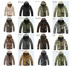 Men's soft shell jacket for outdoor sports camouflage military waterproof jacket
