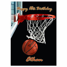 656; Basketball game; Personalised greeting card; large a5; best special great
