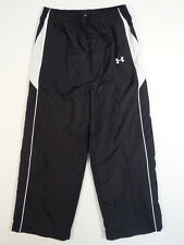 Under Armour All Season Gear Black & White Mesh Lined Track Pants Youth Boys NWT