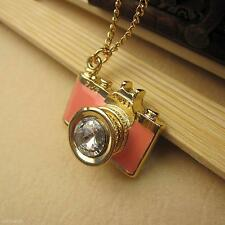 Charming Classic Camera Shape Enamel Alloy Pendant Chain Sweater Necklace Gift