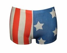 AMERICAN FLAG STARS & STRIPES USA PRINT SHORTS HOTPANTS OLYMPICS GOTH EMO PUNK