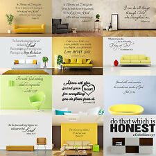 Bible Verse vinyl wall Stickers decal quote Inspiration Art  Home Decor