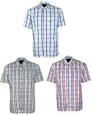 Mens Champion Short Sleeve Shirt Navan Checked Shirts Polycotton
