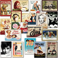 METAL POSTCARD / New Collectable Retro Advert Poster Photo Plaque Tin Gift