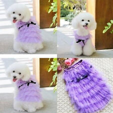 Puppy Clothes Coat Small Dog Dress with Lace Vest Skirt Sundress Princess Dress