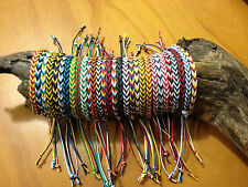 Footy or Sport Colours -  Friendship Bracelet or Anklet - Fishtail Pattern
