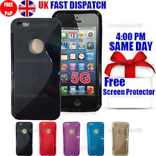 GRIP S-LINE SILICONE GEL CASE & FREE SCREEN PROTECTOR FITS APPLE IPHONE 5G 5S SE