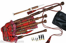 SALE 75% off SCOTTISH GREAT HIGHLAND BAGPIPES WITH PRACTICE CHANTER & BOOKLET