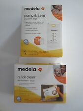 MEDELA QUICK CLEAN BAGS OR PUMP & SAVE BREASTMILK BAGS YOUR CHOICE