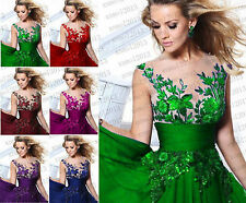 Formal Long Ball Gown Party Prom Bridesmaid Evening Dress Size 6-18