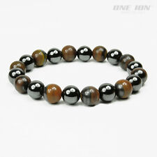 ONE ION TIGER HEMATITE Power Beads Bracelets Ion Energy Balance Stretch Band