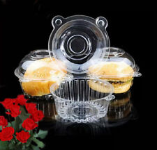 50/100 Lots Clear Plastic Cupcake Cake Case Muffin Pod Dome Holder Box Container