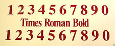 2 sets 0-9 Numbers Decals/stickers Boats Trucks  Store front Doors Mailbox