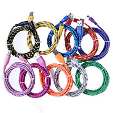 1M 2M 3M Micro USB Charger Cord Data Cable 4 Cell Phone Braided Fabric Wholesale