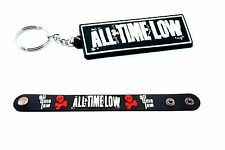 ALL TIME LOW RUBBER WRISTBAND AND KEYCHAIN KEYRING