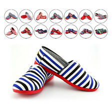 Women's Stars Stripes Loafers Lazy Canvas Casual Shoes Flat Sneaker Mixed Color