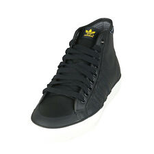 Mens/Junior ADIDAS NIZZA HI Top black leather trainer G95876 uk sizes 4 - 5.5