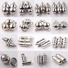 Lots 10 Pcs Silver Plated Round Rectangle Strong Magnetic Clasps Hook Findings