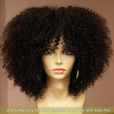100% Remy Human Hair Afro Kinky Curly Fashion bob full lace wigs/lace front wigs