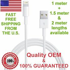 Genuine OEM Lightning USB data sync cable charger for Apple iPhone 5 5C 5S 6 6+