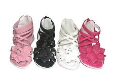 New Baby Infant Toddler Black White Pink Flower Sandals Shoes Sz 3 4 5 6 7 8