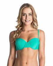 NEW ROXY™  Womens Surf Essentials Underwire Bandeau Separate Bikini Top Womens S