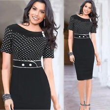 Women Celebrity Short Sleeve Summer Casual Party Evening Cocktail Pencil Dress