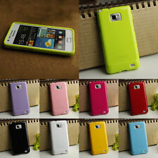 Soft Silicone Gel Case Cover For Samsung Galaxy S2 i9100 + Screen Protector