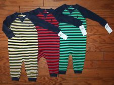 NWT Ralph Lauren Baby Boys Striped Soft Cotton Coverall Baby 3m-12m