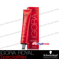 Schwarzkopf Professional IGORA ROYAL Permanent Colour Hair Dye 60ml Specialities