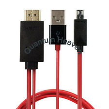 MICRO USB MHL to HDMI HDTV ADAPTER CABLE FOR SAMSUNG GALAXY SERIES