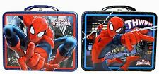 Spider-Man Tin Box Carry All Blue Or Red NWT