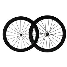 Free shipping 60mm clincher carbon wheels road bicycle wheels