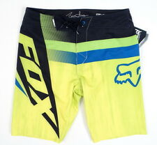 Fox Bruce Irons Signature Series Yellow & Blue Stretch Boardshorts Mens NWT