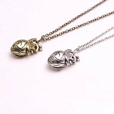 Unique Retro 3D Anatomical Human Hollow Heart Pendant Necklace Sweater Chain