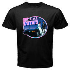 New MIAMI VICE 80'S Retro TV Series Don Johnson Men's Black T-Shirt Size S-3XL