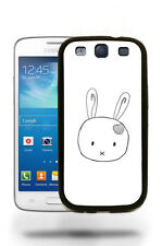 Cute Bunny Hamster Sketch Drawing Case Cover Samsung Galaxy S3 S4 S5 Note 2 3 4