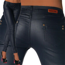 Sexy Women's Skinny Jeans Trousers Hipsters Faux Leather Look  Z 105