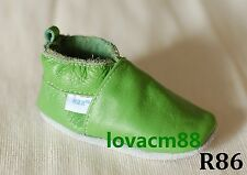 R86 new GREEN RUJI baby infant adult man soft leather crib shoe slipper 13size