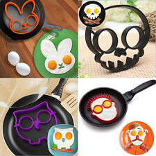 Cute Silicone Egg Fried Shaped Mould Shaper Ring Kitchen Cooking Tool Fried Mold