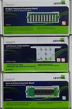 Leviton Data Network Telephone Cat5e Video Structured Media Center Modules