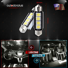 2 10 20 50x 6000K White 42MM Festoon LED Bulbs 578 211-2 Dome Map Interior Light
