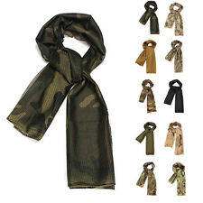 Multi Tactical Camouflage Army Scarf Veil Sniper Cover Neckerchief Fish Net Mesh