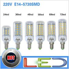 led E14 lampadina 220v SMD5730 lamp light corn bulb 7w 12w 15w 18w 20w 25w 72led