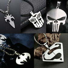 Fashion MarvelSuper Heroes Stainless Titanium Steel Silver Pendant Necklace gift