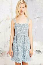 URBAN OUTFITTERS COOPERATIVE FLORAL DRESS SIZE XS S M L SUN BLUE 8 10 12 14