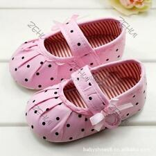 Toddler Infant Baby Girl Polka Dot Soft Sole Crib Shoes Prewalker Shoes 0-1Y A23