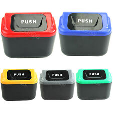 Auto Car vehicle Rubbish Mini Trash Can Garbage Dust Case Holder Box Bin