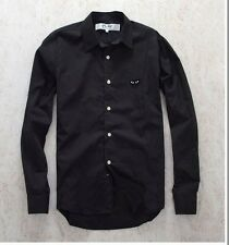 NEW 4 Size BLACK 2016 COMME DES GARCONS CDG PLAY BLACK HEART LONG SLEEVE SHIRT