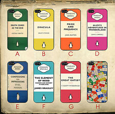 Penguin Books Vintage Alice In Wonderland Great Gatsby Case Cover for iPhone 5C
